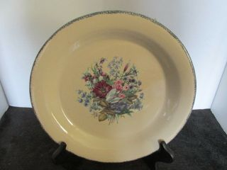 "Home & Garden Usa Pottery Floral Tan 10 1/4 "" Dinner Plate (6 Available)"