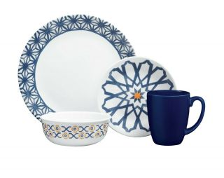 Lightweight 16pcs Dinnerware Set Crafted With Pride In Corning Ultra - Hygienic