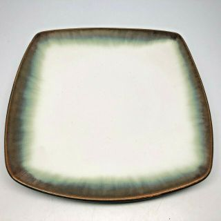 Better Homes & Gardens Stoneware Square Salad Plate Garner Gold Brown Green Edge