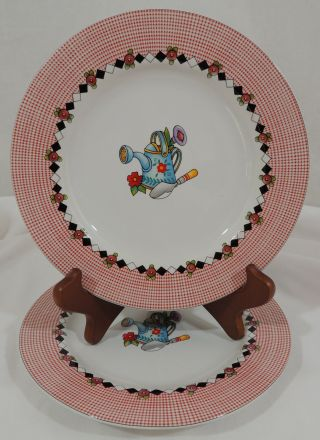 Garden Time By At Home Mary Engelbreit Sunflower Ladybug Birdhouse 2 Salad Plate