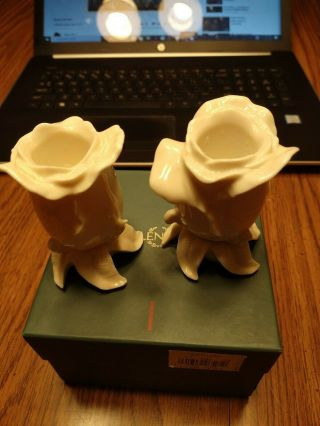 Lenox Rose Hand Crafted Candle Stick Holders 91709 26505