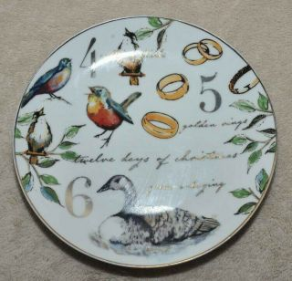 "Better Homes & Gardens 8 1/4 "" Salad Plate,  12 Days Of Christmas,  Day 4,  5,  & 6"
