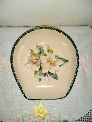 Home And Garden Party Magnolia Spoon Rest Holder.  Hand Made In Usa 1999.