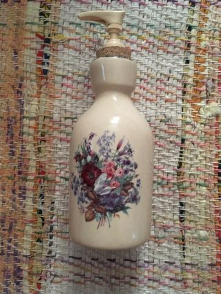 Home & Garden Party Pottery Lotion Dispenser Floral Pattern [2001]