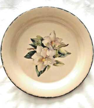 "Home & Garden Party Pie Plate - 10 3/4 "" - Magnolia Pattern"