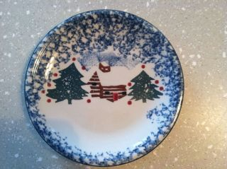 (1) Tienshan Folk Craft Cabin In The Snow Salad Plate (s) (4) Available