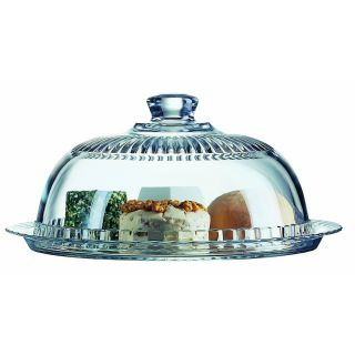 Luminarc Glass Cheese Or Dessert Platter With Dome Small Cake Keeper