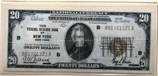 1929 $20 Dollar Federal Reserve Bank Note