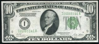 Fr 2002 - I 1928 - B $10 Ten Dollars Frn Federal Reserve Note Minneapolis,  Mn Xf