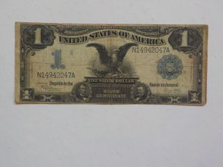 Silver Certificate 1899 1 Dollar Bill Black Eagle Note Paper Money Currency Usa