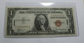 1935 A United States (hawaii) One Dollar Silver Certificate - Unc - 163su