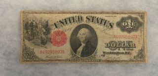 1917 $1 One Dollar Us Note Circulated Ungraded