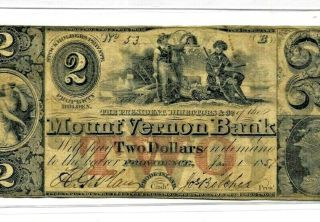 "$2 "" Mount Vernon Bank "" (providence) 1800"