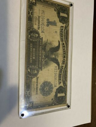 H119 Series Of 1899 Black Eagle One Dollar Silver Certificate $1 Large Note