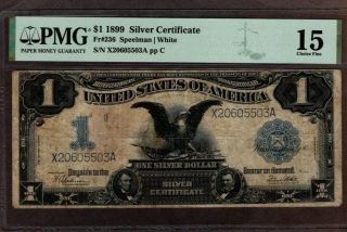 1899 $1 Silver Certificate,  Fr 236,  Pmg 15