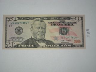 2009 $50 Star Note Bookends,  Crisp Neat Price To Sell Low