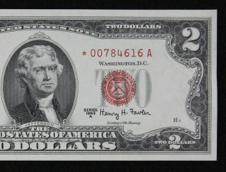 $2 1963a Star Gem Cu Red Seal Us Note 00784616a Series A,  Turned Star Error