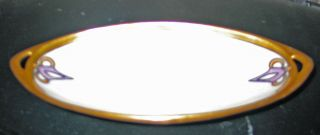 Arts & Crafts Royal Rudolstadt Oval Opalescent Dish 8 1/2 ""