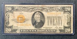 Series 1928 $20 Gold Certificate (last One)