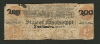 State Of Mississippi - One Hundred Dollars ($100) - 186_ - Raised - Remainder