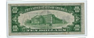 1934 A $10 North Africa Yellow Seal Silver Certificate
