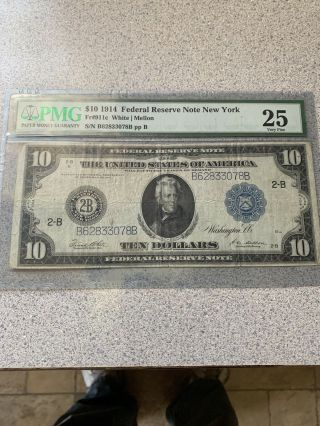 $10 1914 Federal Reserve Note York
