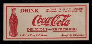 Coca - Cola Advertising Note / $100.  00 1864 T - 65 Confederate States Of America,  U.