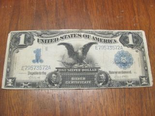 Series Of 1899 One Dollar Silver Certificate Black Eagle Note E79573572a