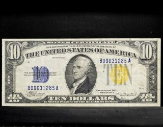 1934 - A $10 North Africa Silver Certificate ✪ Ch - Vf ✪ Choice Very Fine ◢trusted◣