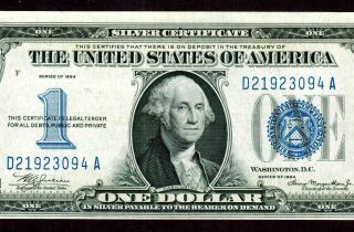 $1 1934 ( (almost Uncirculated))  Funny Back Silver Certificate Currency