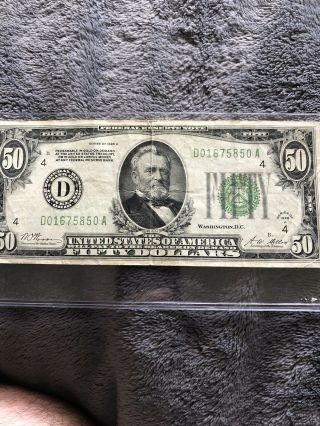 1928 Series $50 Fifty Dollar Federal Reserve Note Cleveland