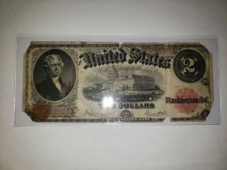 (1) 1917 $2 Two Dollar United States Legal Tender Large Note Speelman/white Look