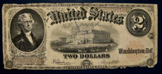 Us 1917 $2 Note Speelman - White