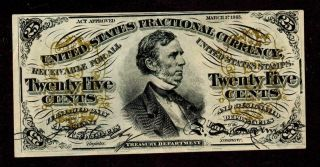 25 Cent ( (almost Uncirculated))  Third 3rd Issue Fractional Currency