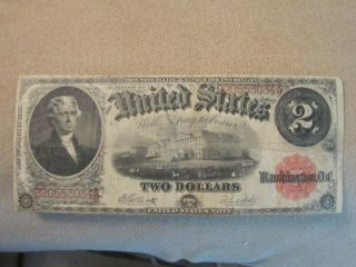 1917 $2 Large Legal Tender Horse Blanket Note