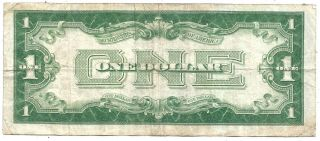 1934 $1 Blue Seal Silver Certificate Funny Back Old Us Paper Money Vf
