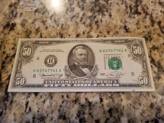 1974 $50 Us Bill - St.  Louis Uncirculated And Crisp,  Perfect Shape