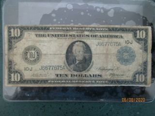 1914 $10.  00 Kansas City Federal Reserve Note