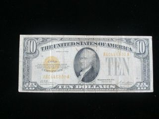 $10 Gold Certificate 1928 Series Woods / Mellon You Grade It