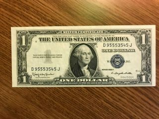 1935 H $1 Currency Silver Certificate H Error
