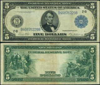 Fr.  851 A $5 1914 Federal Reserve Note York Fine,