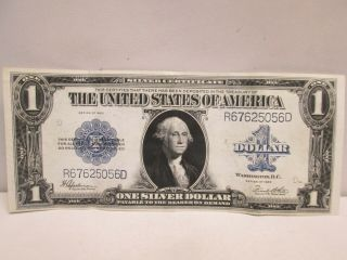1923 Us $1 Silver Certificate Large Note