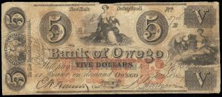 U.  S.  A.  York,  Owego,  Bank Of,  Owego $5 B,  Mch 1,  1864 F