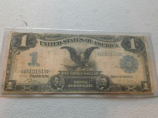 1899 Black Eagle $1 Silver Certificate Large Note,  Nr