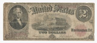 Fr 57 1917 Series $2 Jefferson Legal Tender U.  S.  Treasury Note