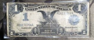 1889 Black Eagle One Dollar $1 Silver Certificate Note Large Bill Lincoln Grant