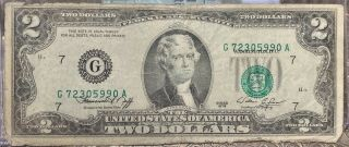 Gem $2 1976 Federal Reserve Note Overprint Misaligned Error