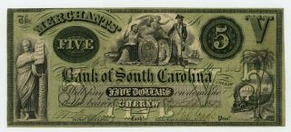 1857 $5 The Merchants