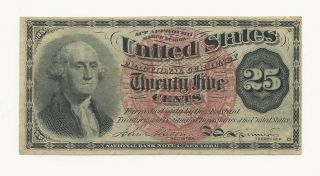 Us 1863 25c Fractional Currency - Note
