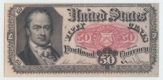 Fractional Currency Fr1380 Fifth Issue Fifty Cents (50c)